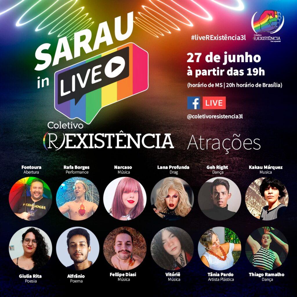 Coletivo (R)EXISTÊNCIA celebra mês do Orgulho LGBTQIA+ com sarau online 10