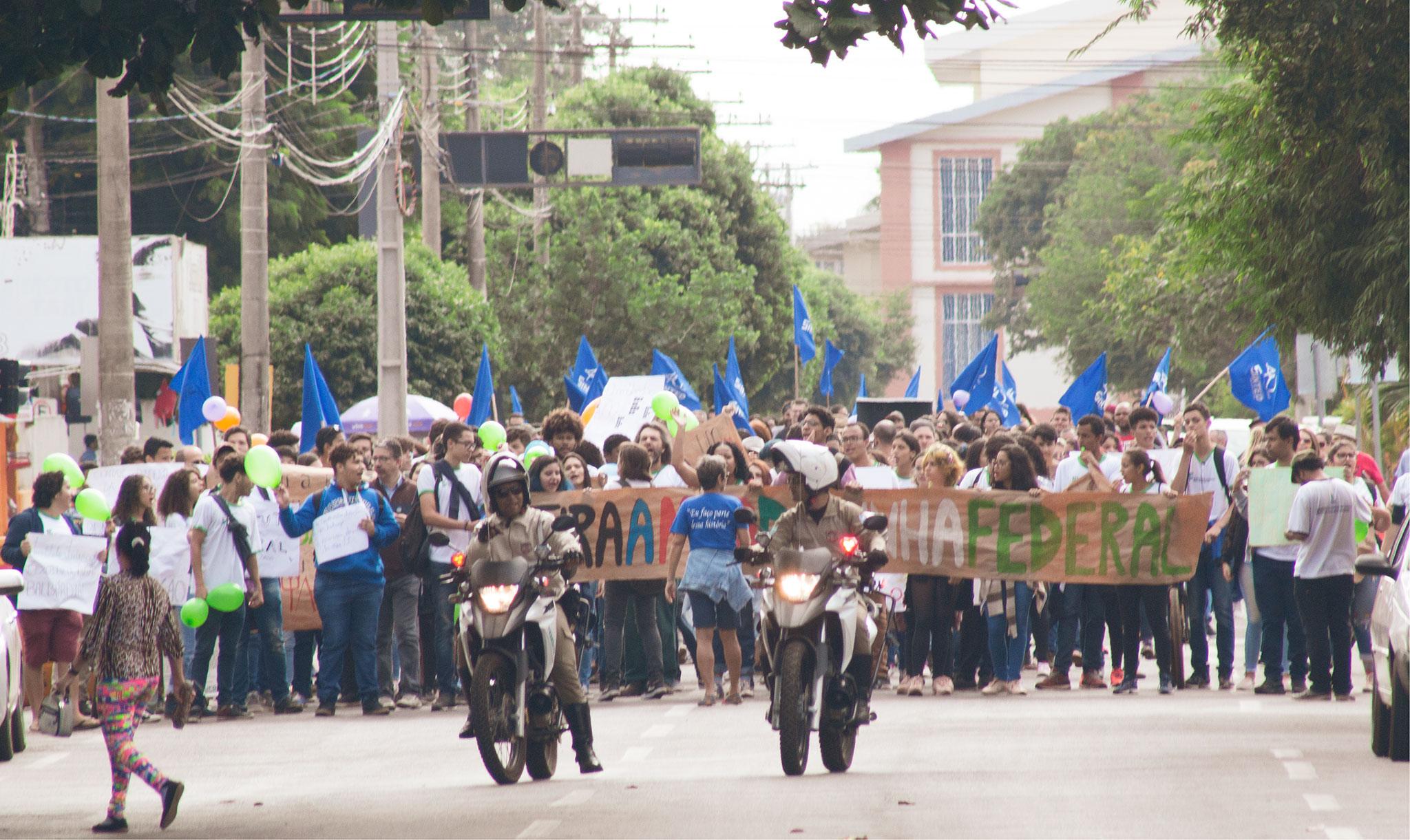 Manifestação Sinted maio 2019
