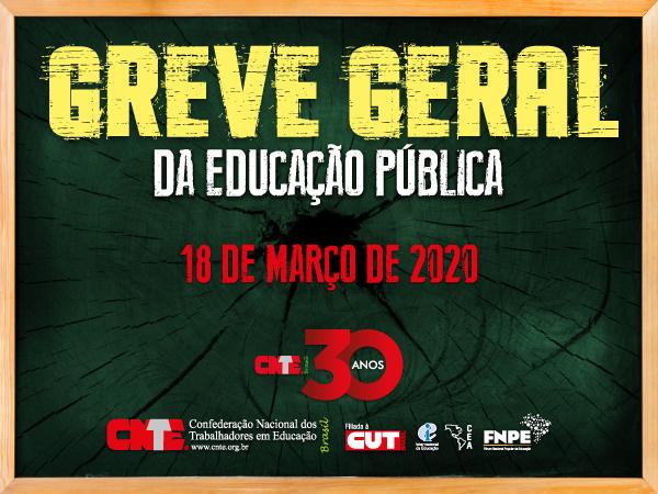 CNTE convoca categoria para a Greve Geral da Educação Pública 7