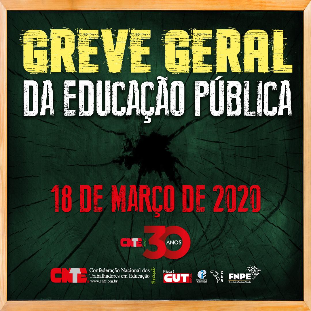 CNTE convoca categoria para a Greve Geral da Educação Pública 15
