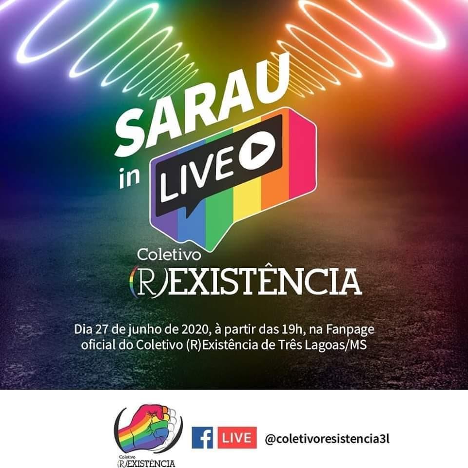 Coletivo (R)EXISTÊNCIA celebra mês do Orgulho LGBTQIA+ com sarau online 9