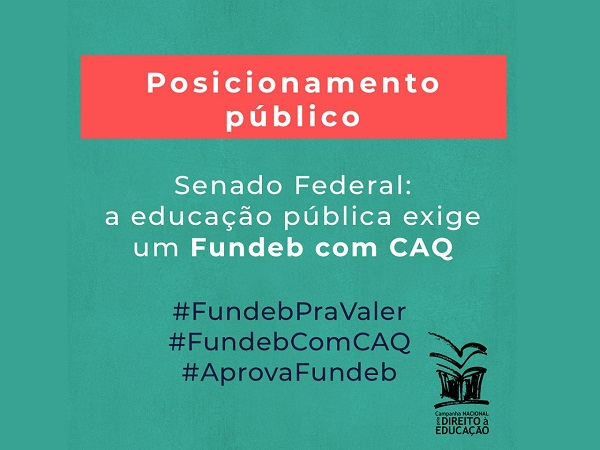 Senado Federal: a educação pública exige um Fundeb com CAQ 4