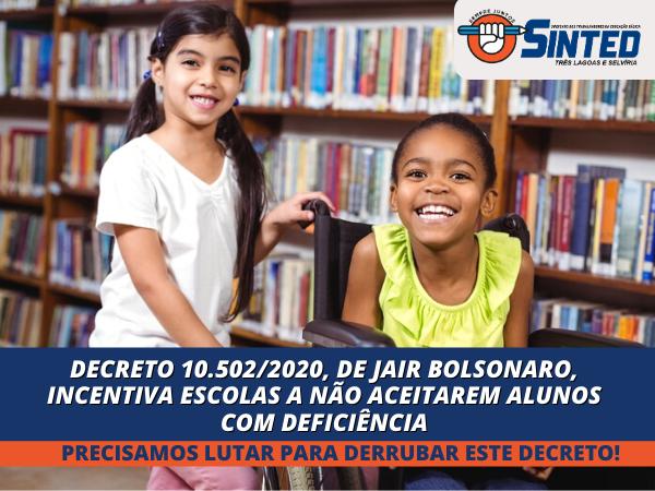 Decreto nº 10502/2020, de Jair Bolsonaro, Viola Direitos Humanos da Pessoa com Deficiência 6