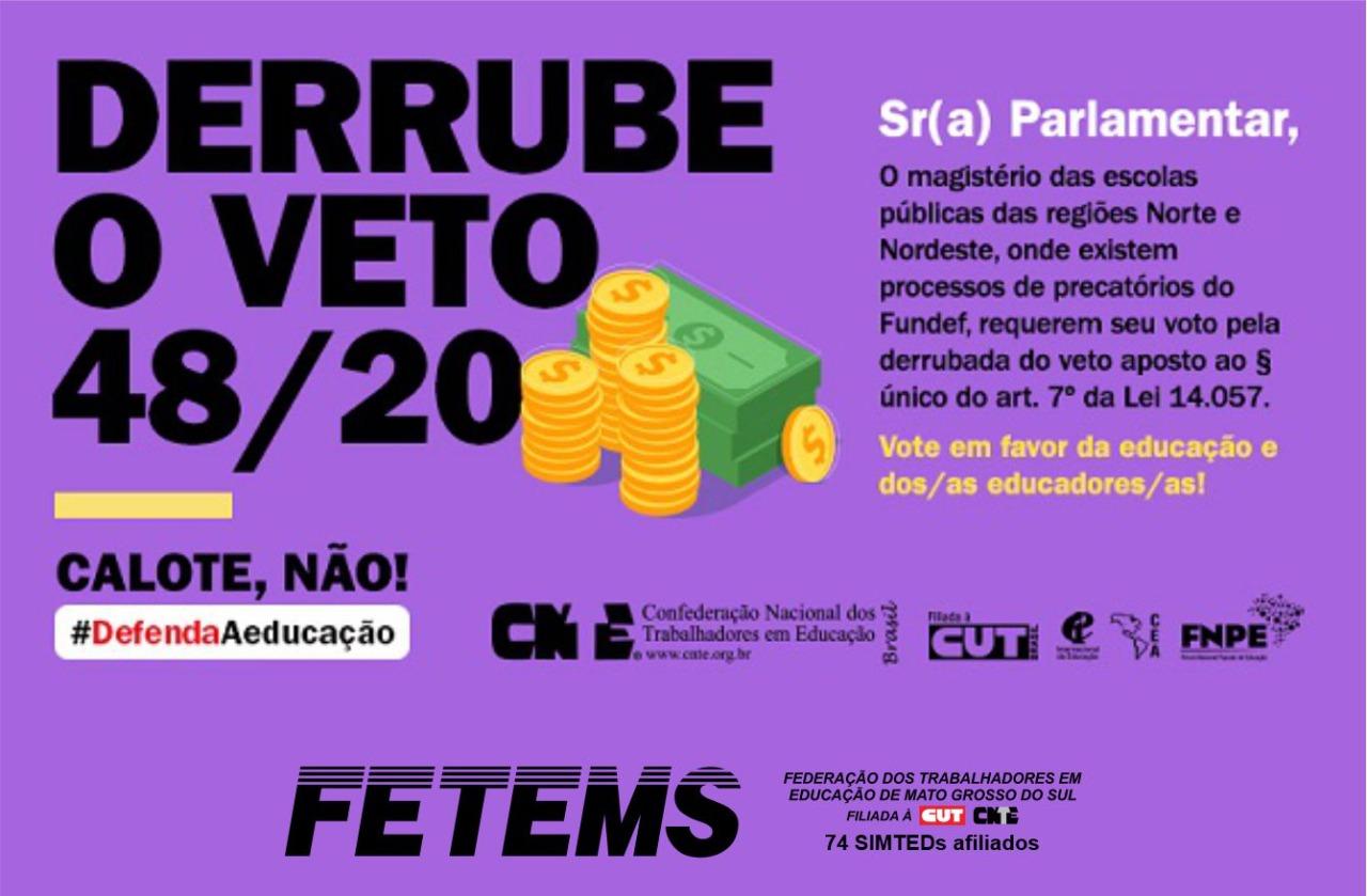 Participe da mobilização para derrubar vetos que impedem valorização da educação 1