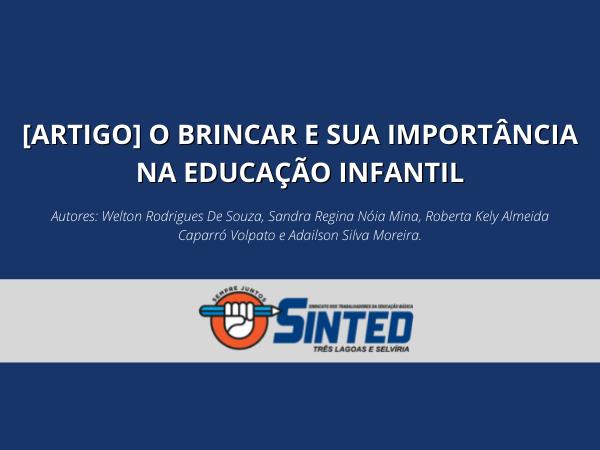 [ARTIGO] O BRINCAR E SUA IMPORTÂNCIA NA EDUCAÇÃO INFANTIL 8